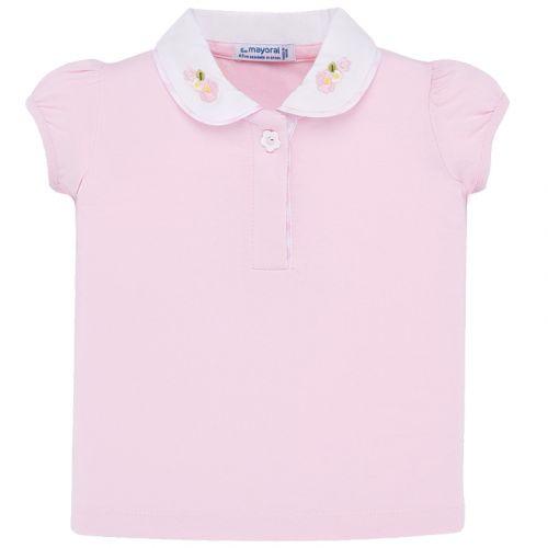Pink Peterpan Collar Polo Shirt