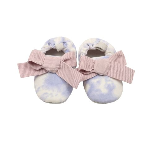 Blue Motif Tie Dye Baby Shoes