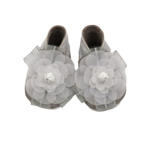 Grey Camelia Mesh Baby Shoes