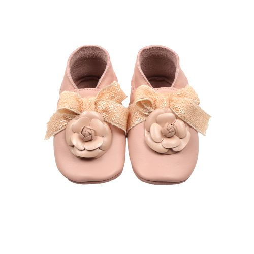 Pink Camelia Baby Shoes