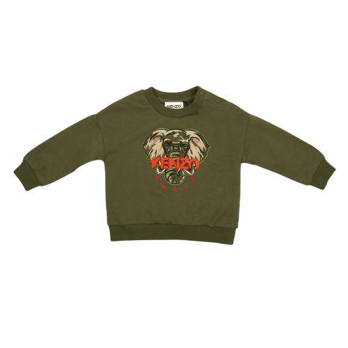 Olive Elephant Baby Sweatshirt