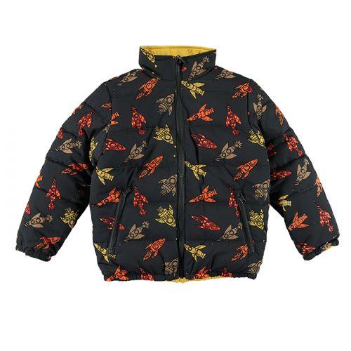 Black Rockets Puffer Coat