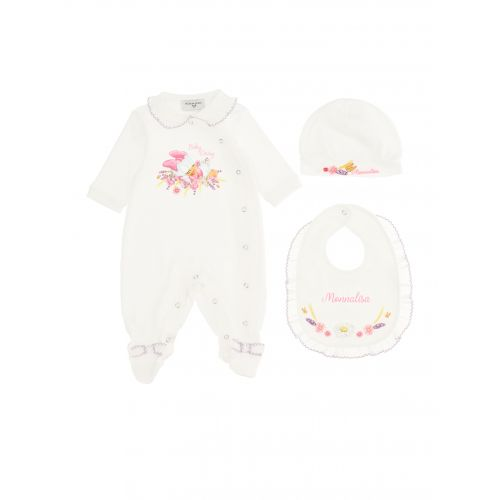 White Daisy Babysuit Set