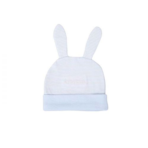 Baby Blue Striped Bunny Ears Cotton Hat