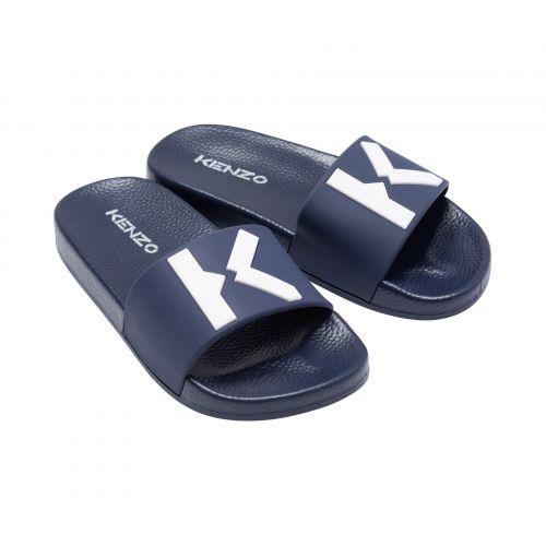 Navy K Logo Sandal