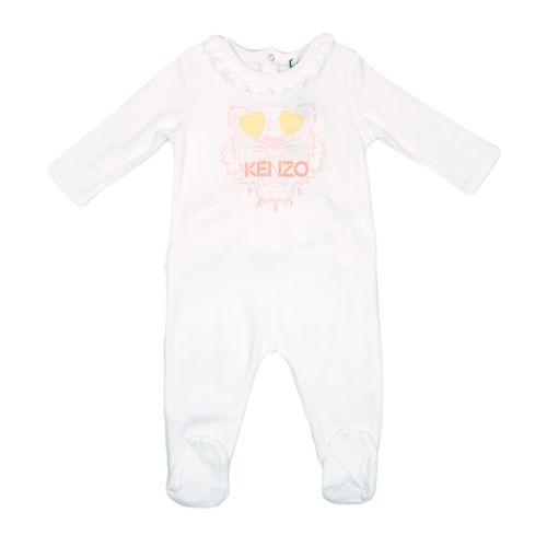 Pink Heart Tiger Ruffle Babysuit