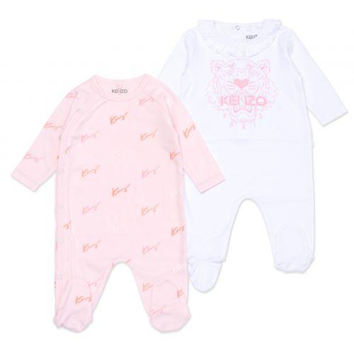 Pink Logo Babysuit Set