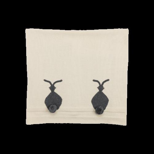 Ivory Rabbit Blanket