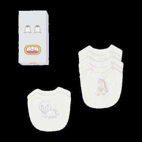 White Embroidered Horse Bib Set