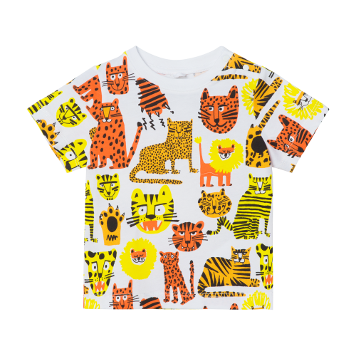 White All -Over Cats T-Shirt
