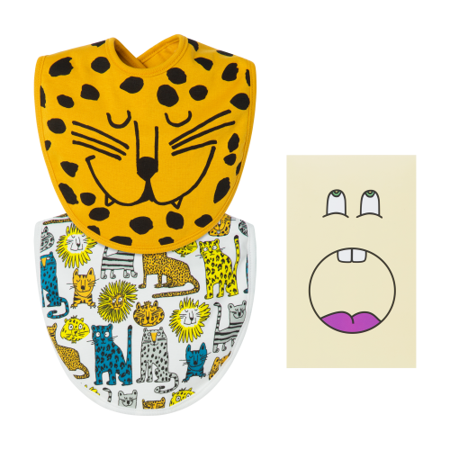 Multi-Color Animal Bib Set