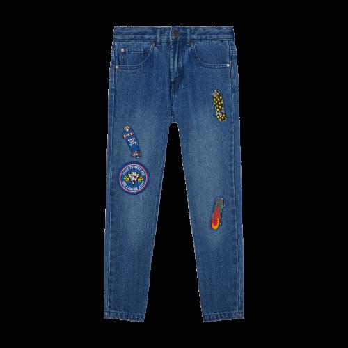 Denim Patch Jeans
