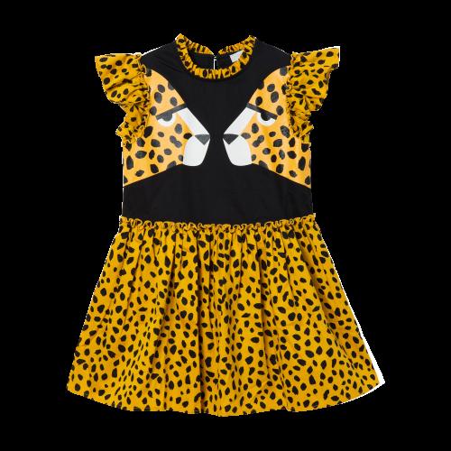 Yellow Cheetah Dress