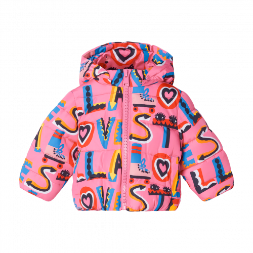 Pink Stella Puffer Baby Jacket