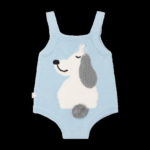 Baby Blue Dog Babysuit