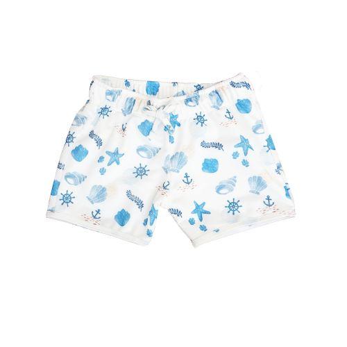 Blue Maritime Swim Shorts