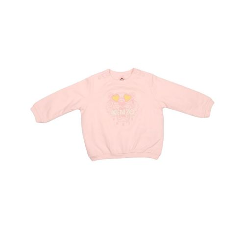 Pink Heart Tiger Baby Sweater