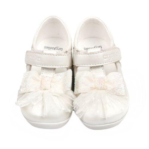 White Bow & Pleats Shoes