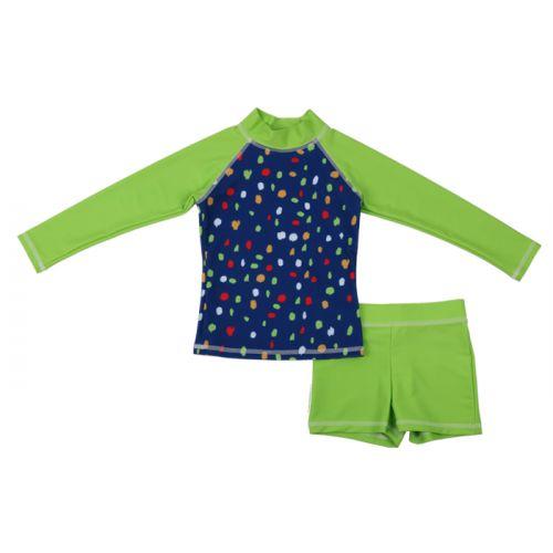 Blue and Green Dagny - Iggy 2-piece Swim Suit