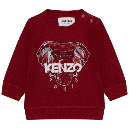 Red Elephant Baby Sweater