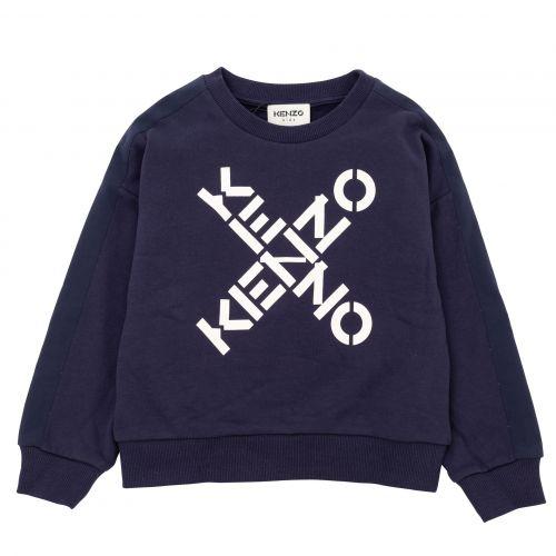 Navy Kenzo Logo Sweater