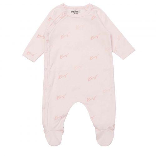Pink Tiger Logo Babysuit