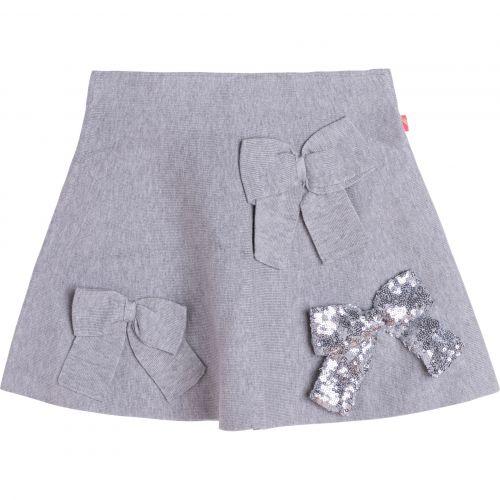 Grey Sequin Ribbon Skirt