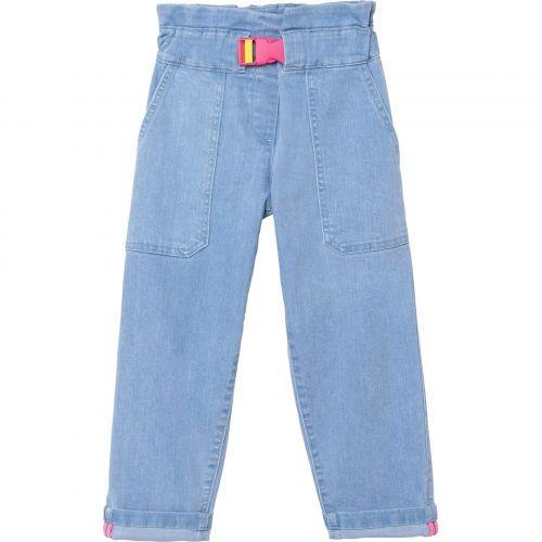 Blue Denim Belted Pants