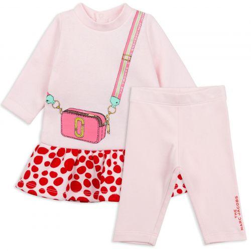 Baby Pink Snapshot Baby Dress Set