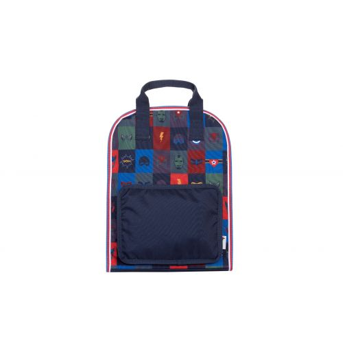 Navy Blue Superhero Large Backpack