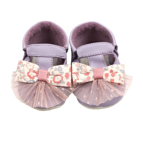 Lilac Bow Pleats Baby Shoes