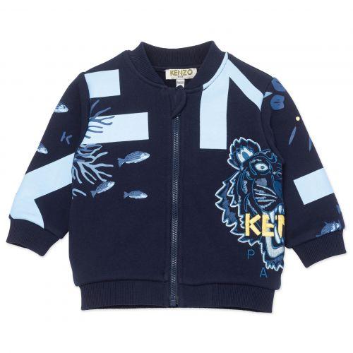 Navy Coral Baby Jacket