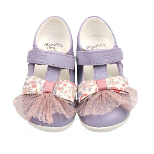 Lilac Bow & Pleats Shoes