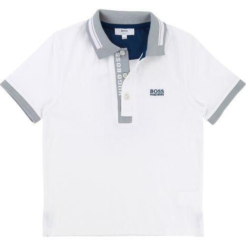 Short Sleeve Polo White