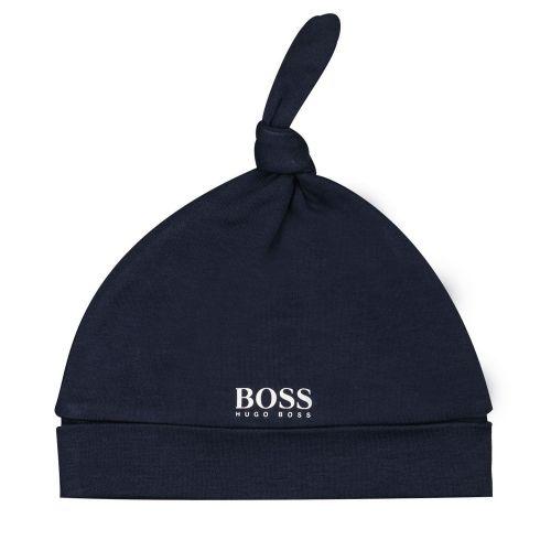 Navy Velour Baby Hat