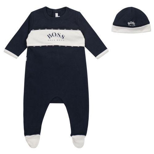 Navy Logo Babysuit Set