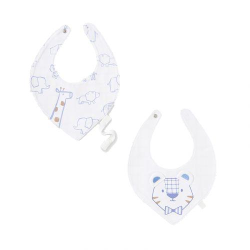 White Animal Bib Set