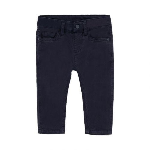 Navy Slim Fit Baby Trousers
