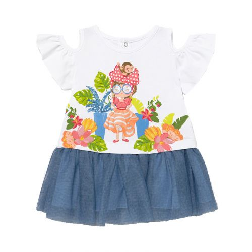 White Off-Shoulder Baby Dress