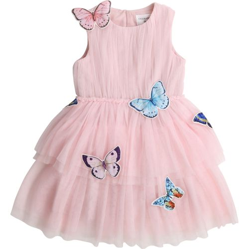 Pink Butterfly Tulle Dress