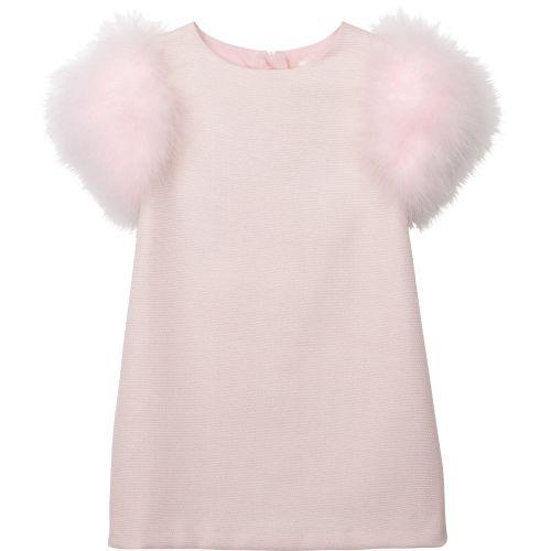 Baby Pink Plume Ballet Dress
