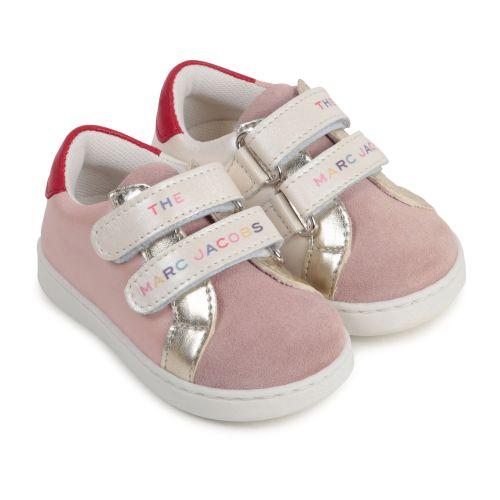Baby Pink Color-Block Sneakers