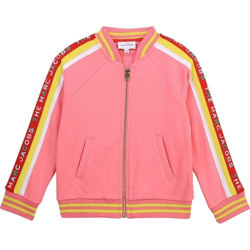 Pink Side Stripe Logo Jacket