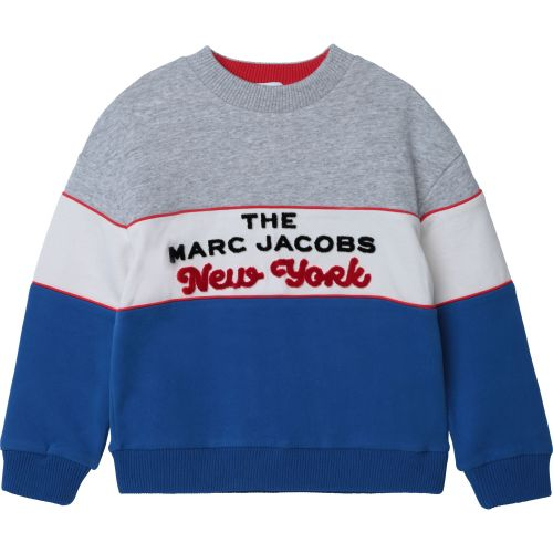 Colorblock Graphic Sweater