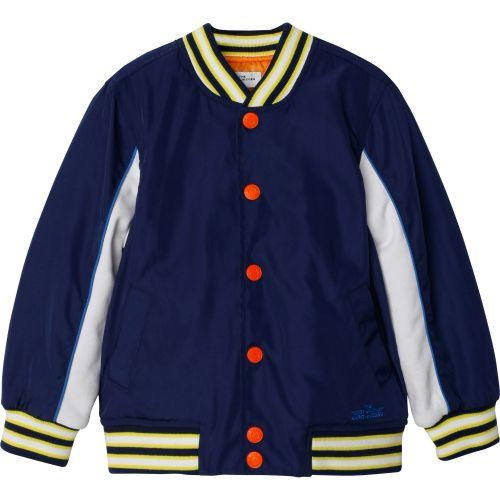 Navy Mascot Bomber Jacket