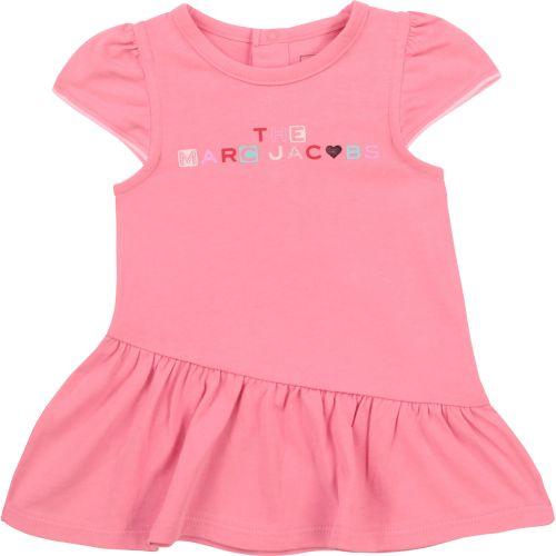 Pink Multi-Color Logo Baby Dress