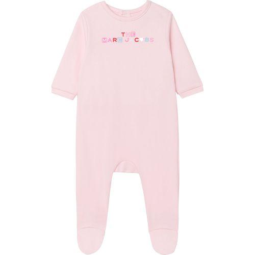 Baby Pink Multi-Color Logo Babysuit