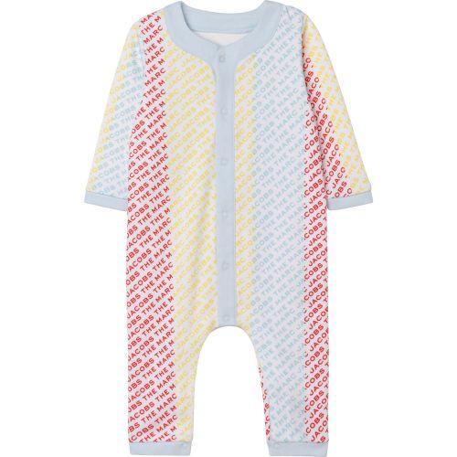 Multicolor All-Over Logo Babysuit