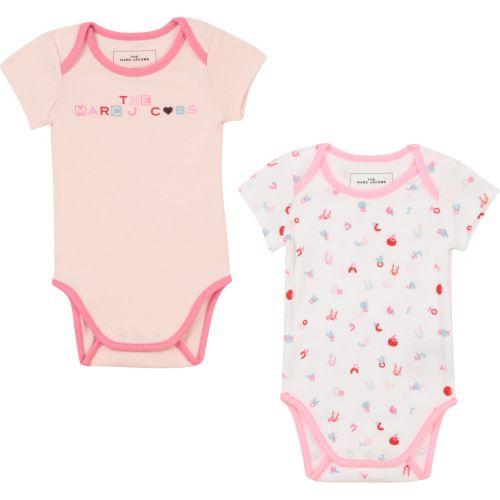 Baby Pink Logo Romper Set