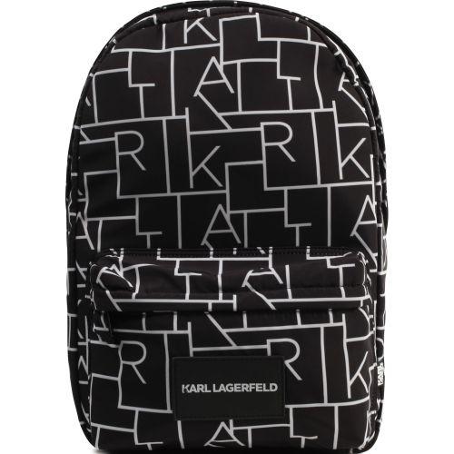 Black Karl Pattern Backpack